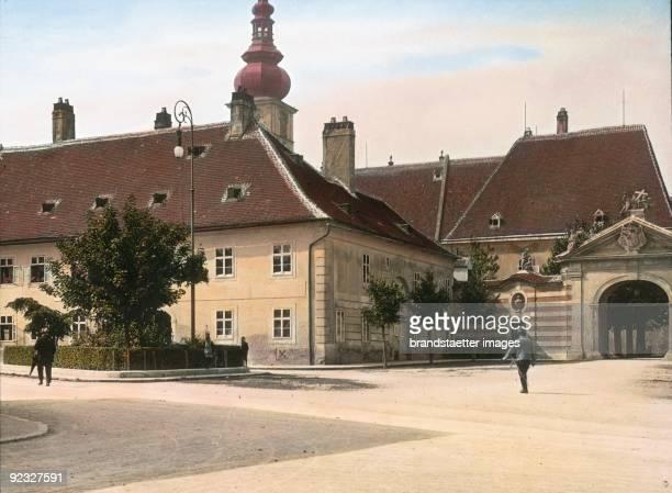 The Bishop's Palace on the Domplatz St Poelten Mostviertel Lower Austria Handcolored lantern slide 1909