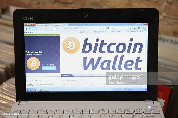 The bitcoin website is shown on the computer of the proprietor of a shop selling vinyl records and that accepts bitcoins for payment on April 11 2013...