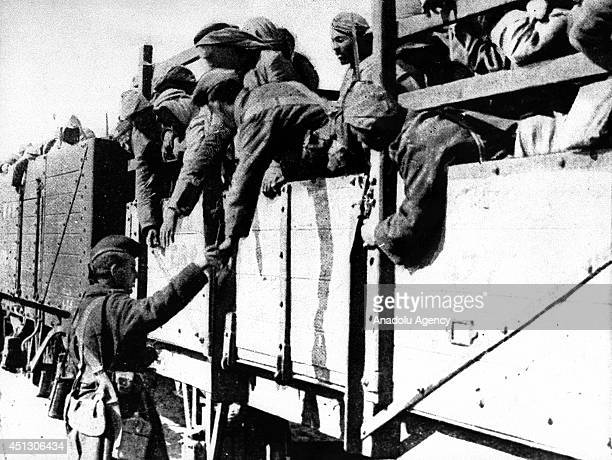 The black and white pictures Turkish General Staff has released on June 27 2014 show the Sinai and Palestine front during the World War I The...