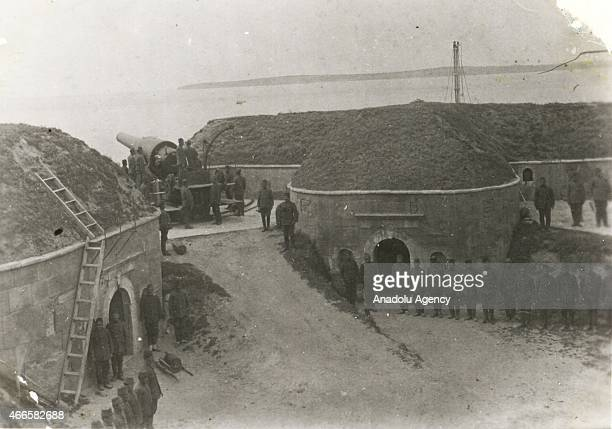 The black and white pictures Turkish General Staff has released on March 17 2015 show fortresses built to defend dardanelles and Hamidiye Mecidiye...