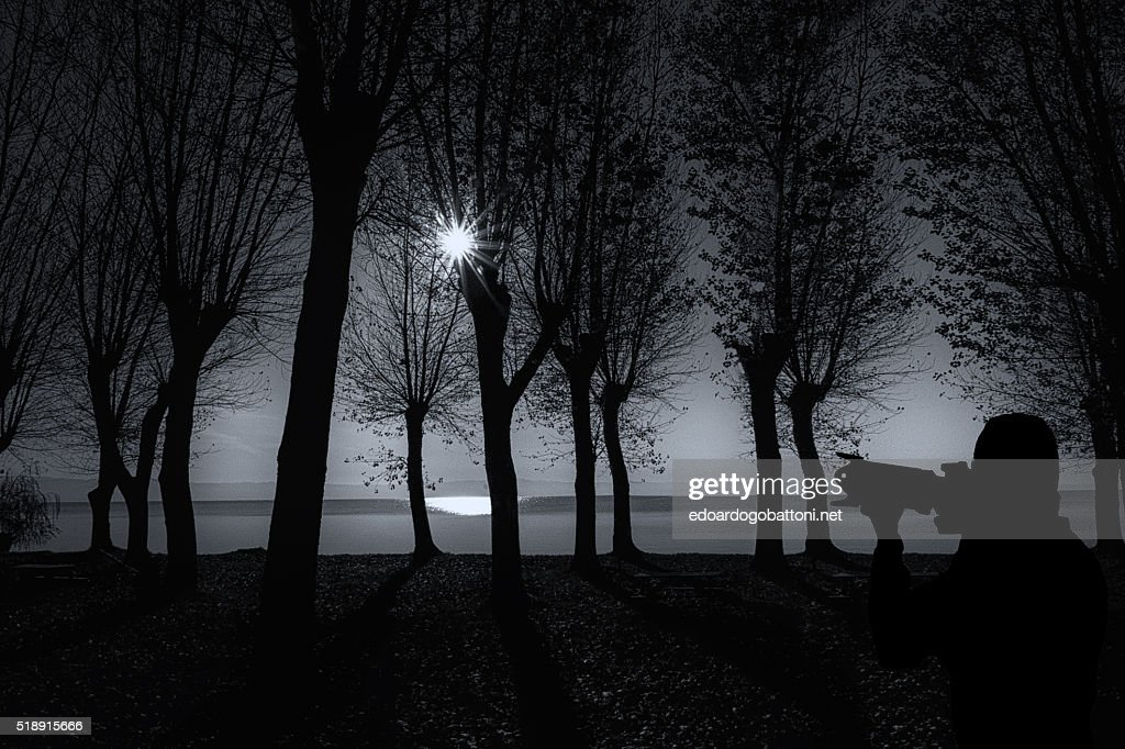 the black art of silhouette : Foto stock