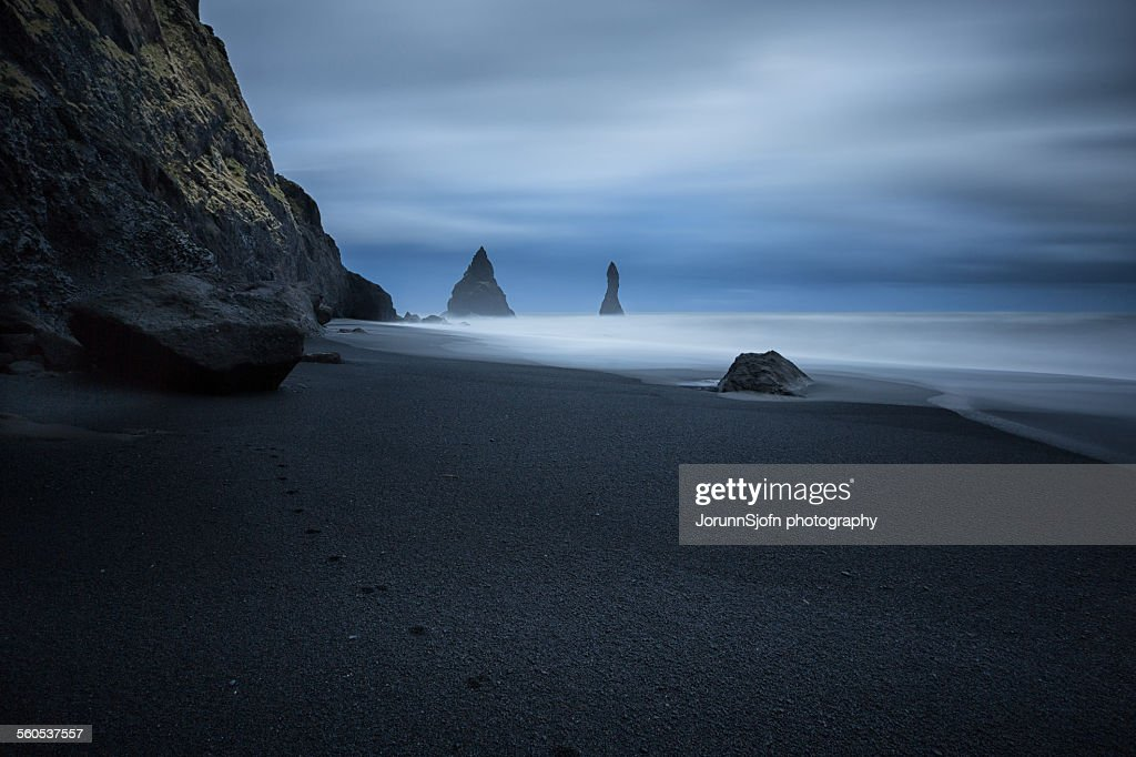 The black beach : Stock Photo