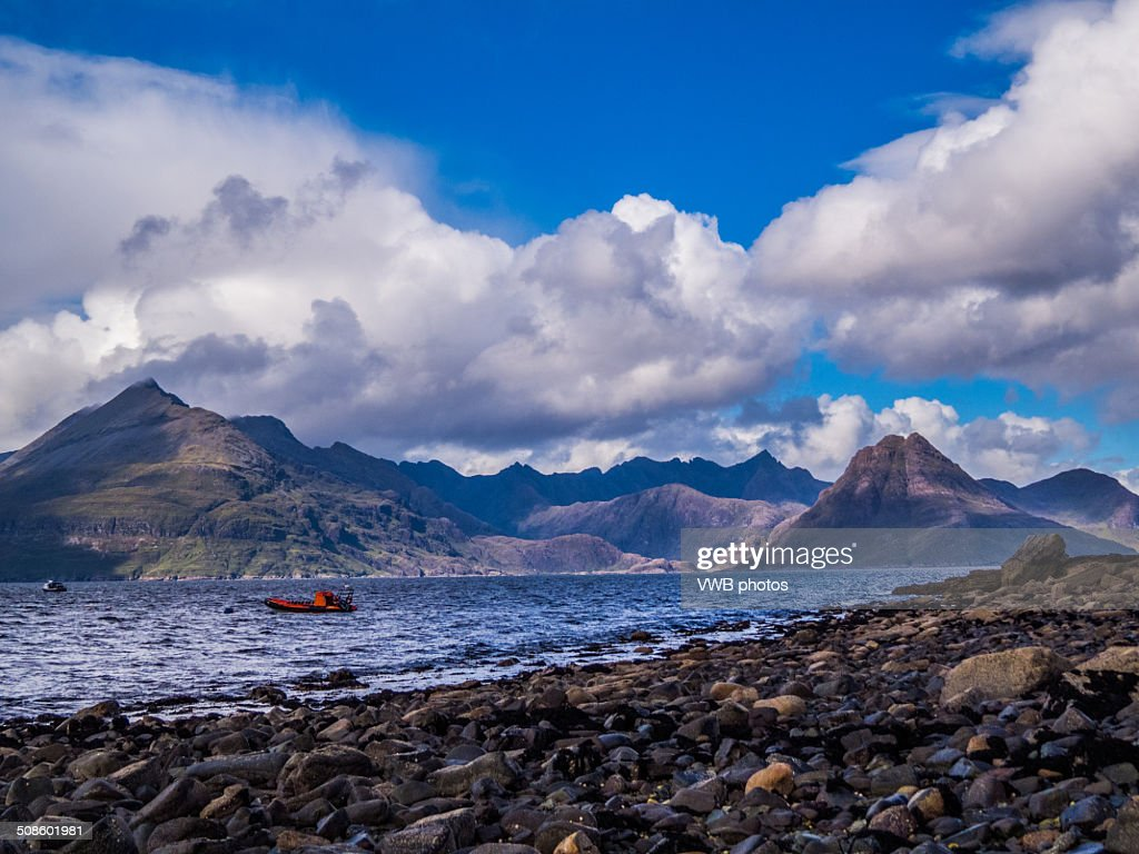 The Black Cuillin from Elgol, Isle of Skye : Stock Photo