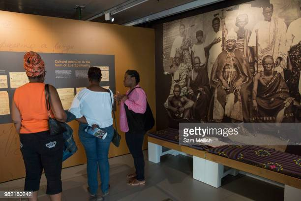 The Black Cultural Archives gallery during the 70th anniversary of the arrival of the passenger liner Empire Windrush and the men and women who came...