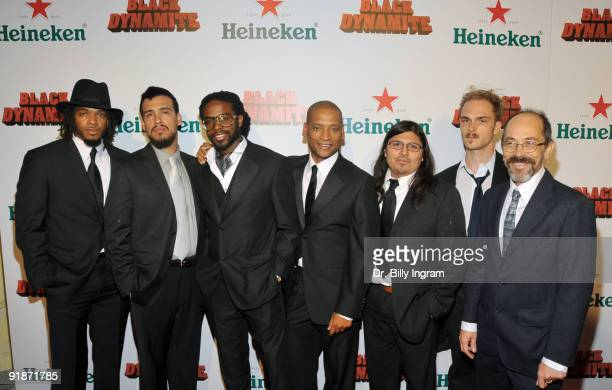 The Black Dynamite music band attend the Black Dynamite Los Angeles Premiere at ArcLight Hollywood on October 13 2009 in Hollywood California
