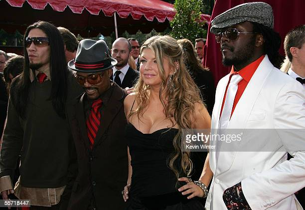 The Black Eye Peas members Taboo, Apl.de.Ap, Fergie and Will.I.Am arrive at the 57th Annual Emmy Awards held at the Shrine Auditorium on September...