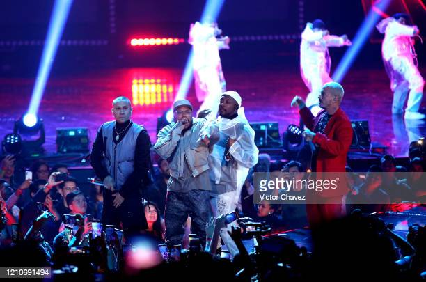 The Black Eyed Peas and J Balvin perform onstage during the 2020 Spotify Awards at the Auditorio Nacional on March 05 2020 in Mexico City Mexico