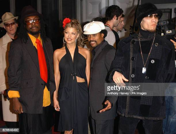 The Black Eyed Peas arrive for the MTV Europe Music Awards 2003 at Western Harbour in Leith Edinburgh