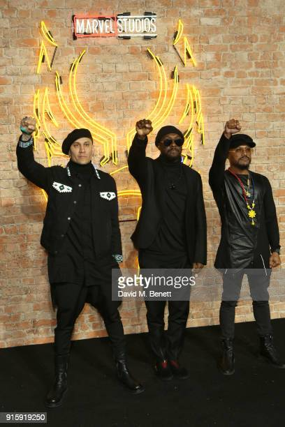 The Black Eyed Peas attend the European Premiere of Black Panther at the Eventim Apollo on February 8 2018 in London England