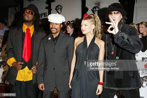 The Black Eyed Peas during MTV Europe Music Awards 2003 Arrivals at Ocean Terminal Arena in Edinburgh United Kingdom