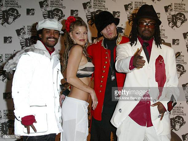 The Black Eyed Peas during MTV Europe Music Awards 2003 Press Room at Ocean Terminal Arena in Edinburgh United Kingdom