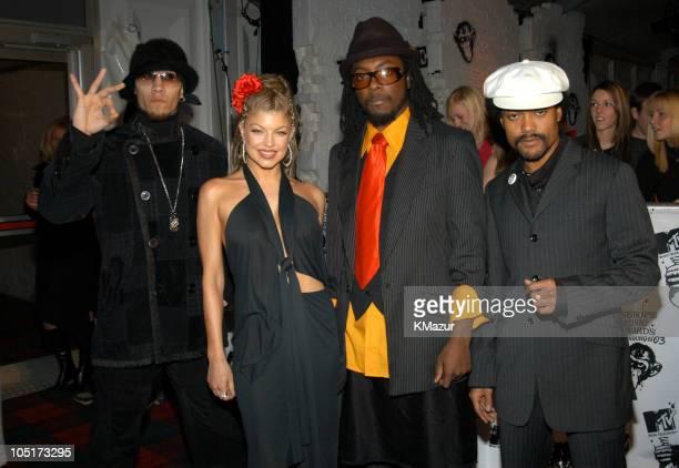 The Black Eyed Peas during MTV Europe Music Awards 2003 Red Carpet Arrivals at Ocean Terminal Arena in Edinburgh Great Britain