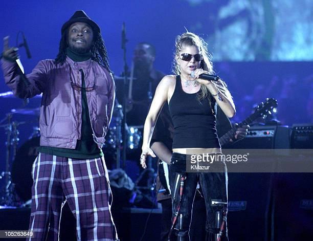 The Black Eyed Peas during MTV Europe Music Awards 2003 Rehearsals at Ocean Terminal Arena in Edinburgh United Kingdom