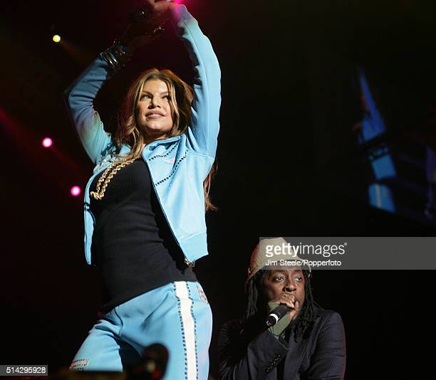 The Black Eyed Peas on their Monkey Business Tour performing at Wembley Arena in London, 16th June 2006 - Stacey 'Fergie' Ferguson and Will I Am.