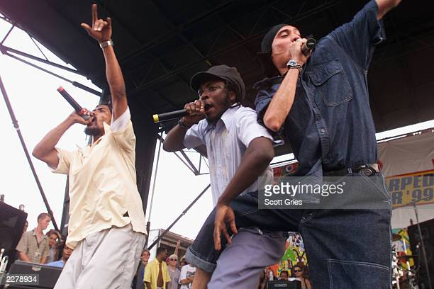 The Black Eyed Peas perform during the Warped Tour at Randalls Island on July 16 1999 Photo Scott Gries/Getty Images