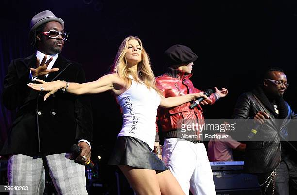 The Black Eyed Peas perform performs at The Black Eyed Peas' 4th Annual Peapod Foundation Benefit Concert held on February 72008 in Los Angeles...