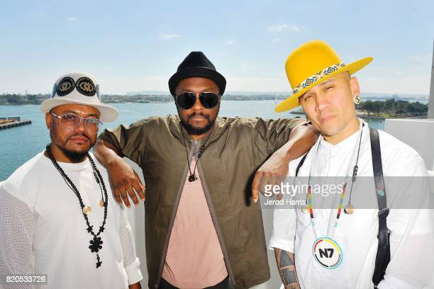 The Black Eyed Peas pose for a photo at the Hilton Bayfront Hotel during Comic Con on July 21 2017 in San Diego California