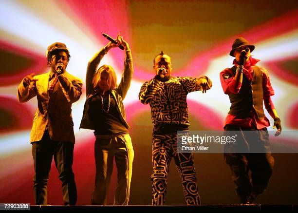 The Black Eyed Peas william Stacy Fergie Ferguson apldeap and Taboo perform during a soldout show at the Mandalay Bay Events Center December 29 2006...