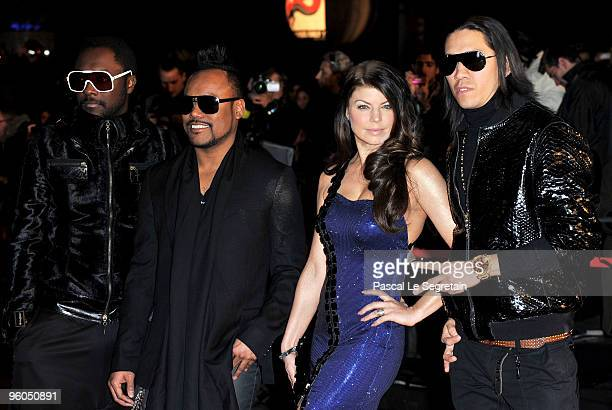 The Black Eyed Peas with william apldeap Fergie and Taboo attend the NRJ Music Awards 2010 at Palais des Festivals on January 23 2010 in Cannes France