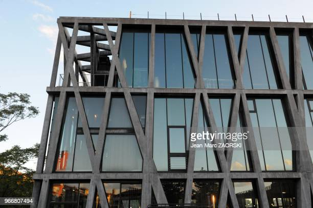 The Black Flag in Aix en Provence in France on May 22 2013 It is a theater of AixenProvence designed by architect Rudy Ricciotti in 1999 and...