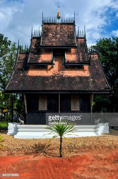 the black house of chiang rai, thailand - theravada stock pictures, royalty-free photos & images