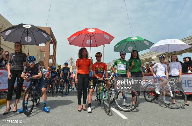 The Black Jersey Charles Planet of France and Team Novo Nordisk the Leader Red Jersey Primoz Roglic of Slovenia and Team Jumbo Visma the Green Jersey...