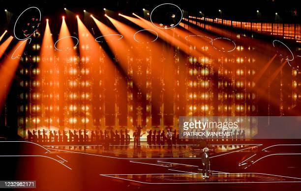 The Black Mamba from Portugal perform with the song Love Is On My Side during the first dress rehearsal of the second semi-final of the Eurovision...