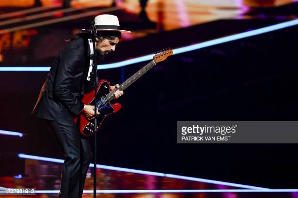 The Black Mamba from Portugal performs with the song Love Is On My Side during the first dress rehearsal of the second semi-final of the Eurovision...