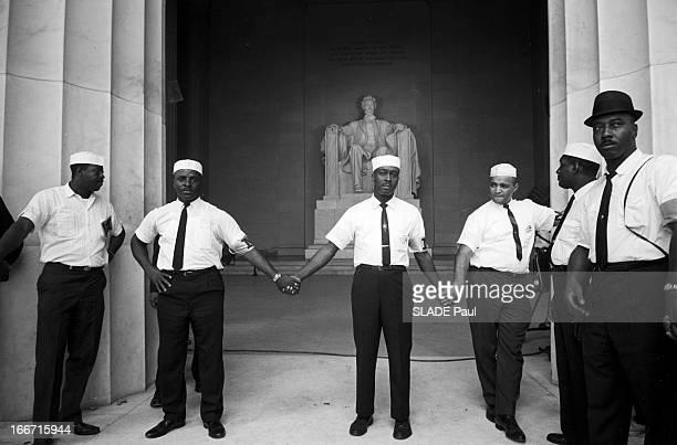 The Black March In Washington For Jobs And Freedom Le 28 août 1963 à Washington la 'Marche des noirs' pour les droits civiques au Lincoln Memorial...