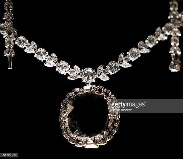 The Black Orlov diamond is displayed by its handler during a photocall September 20 2005 in London The 675carat diamond Black Orlov believed to be...