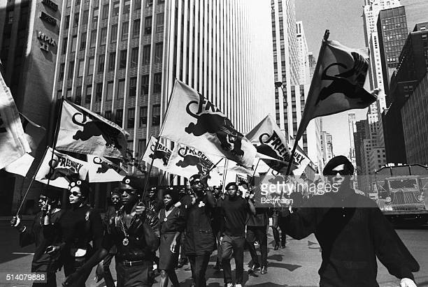 The Black Panthers march in protest of the trial of cofounder Huey P Newton in Oakland California