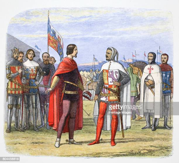The Black Prince extorts an amnesty from Pedro the Cruel Spain 1367 Edward the Black Prince forced an amnesty from Pedro The Cruel King of Castile by...