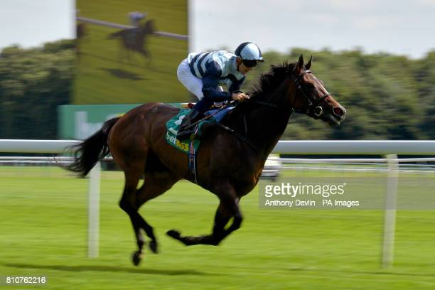 The Black Princess ridden by Robert Tart wins The Bet365 Lancashire Oaks during bet365 Old Newton Cup Day at Haydock Park Racecourse