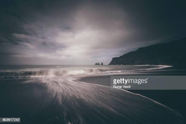 The black sand beach in Vik