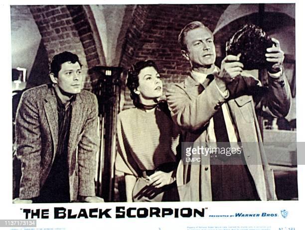 The Black Scorpion lobbycard Carlos Rivas Mara Corday Richard Denning 1957