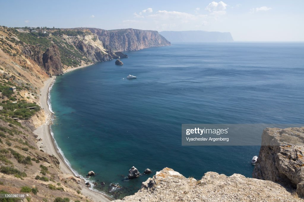 The Black Sea coastline, the sunny summer in Crimea : Stock Photo
