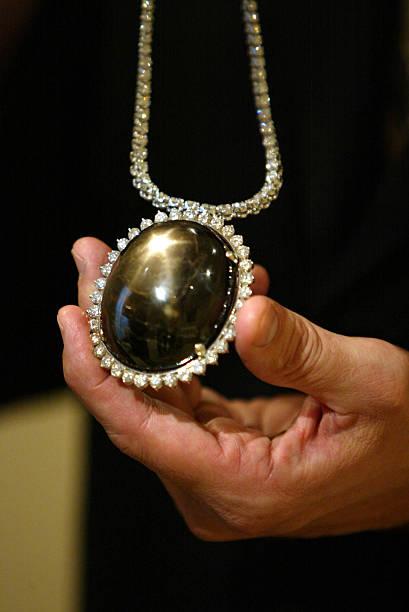The black star of queensland a 733 karat sapphire pictures getty the black star of queensland a 733 karat sapphire aloadofball Choice Image