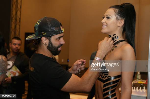 45 Tape Art Body Art Photos And Premium High Res Pictures Getty Images