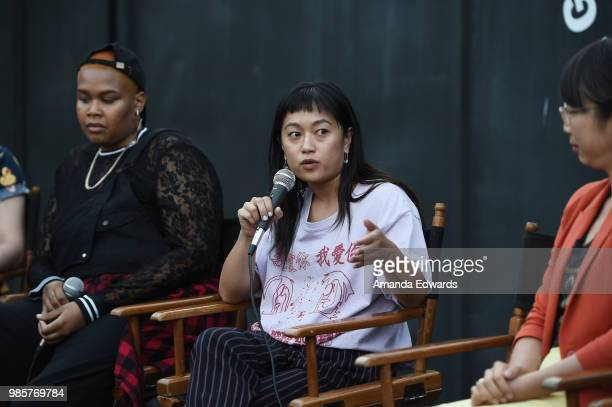 The Black Women's Defense League founder Niecee X director Christine Yuan and Farmer Mai founder Mai Nguyen attend the Pabst Blue Ribbon Flaunt and...