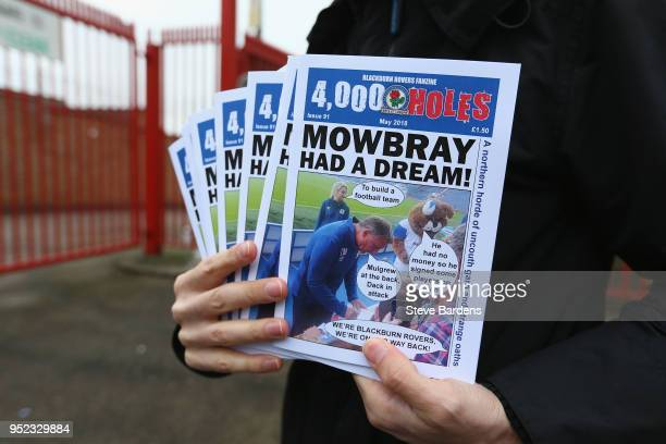 The Blackburn Rovers fanzine being sold outside the Valley prior to the Sky Bet League One match between Charlton Athletic and Blackburn Rovers at...