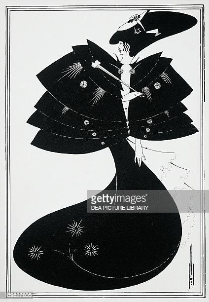 The Blackcape illustration by Aubrey Vincent Beardsley for Salome play by Oscar Wilde