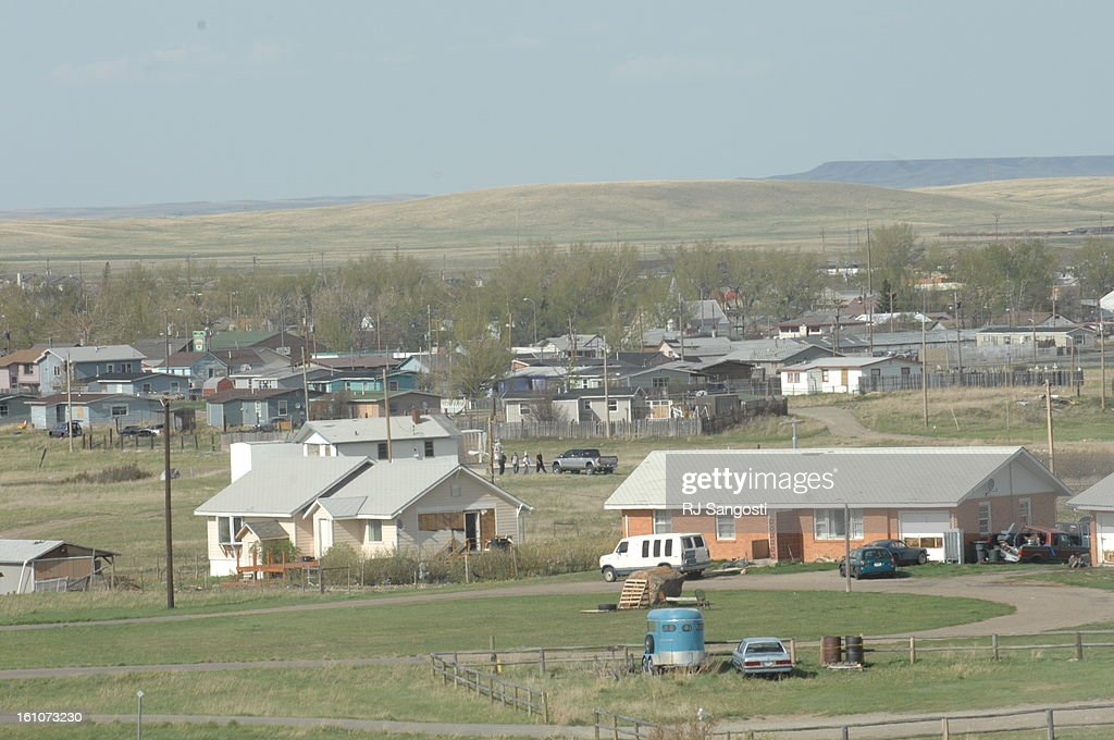 INDIAN10 BROWNING, MONTANA-- The Blackfeet Reservation Browning, MO, has a reputation for violence. Poverty and addiction lead to high crime rates. RJ Sangosti/ The Denver Post : Foto jornalística