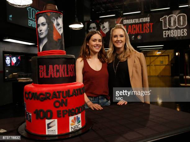 THE BLACKLIST The Blacklist Celebrates 100 Episodes Pictured Megan Boone and Jennifer Salke President NBC/NBCU Photo Bank via Getty Images from The...