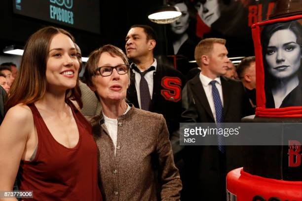 THE BLACKLIST The Blacklist Celebrates 100 Episodes Pictured Megan Boone Kathryn Nemec from The Blacklist set on Monday November 13 2017