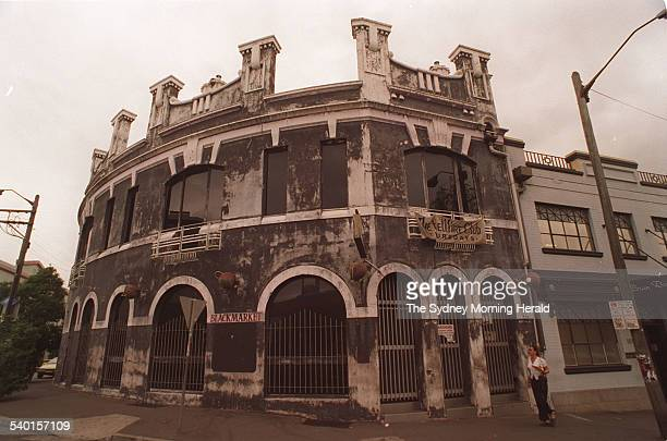 The Blackmarket cafe on Regent Street, Chippendale, formerly host to the Hellfire nightclub, Sydney, 30 January 1996. SMH Picture by DAVID MARIUZ