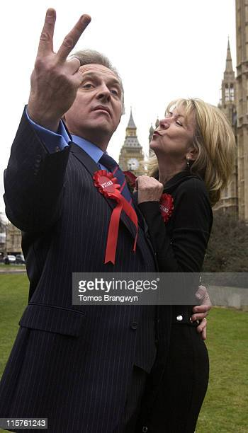Rik Mayall and Marsha Fitzalan during 'The New Statesman Episode 2006 The Blair B'Stard Project' London Photocall at The Atrium in London Great...