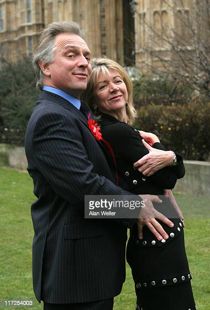 Rik Mayall and Marsha Fitzalan during The New Statesman Episode 2006 The Blair B'Stard Project London Photocall at The Atrium in London Great Britain