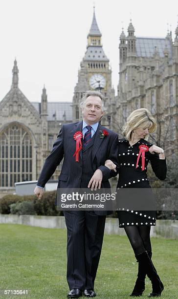Actors Rik Mayall and Marsha Fitzalan pose as their comic 1980's TV characters Alan and Sarah B'Stard as they launch the fourmonth UK tour of the...