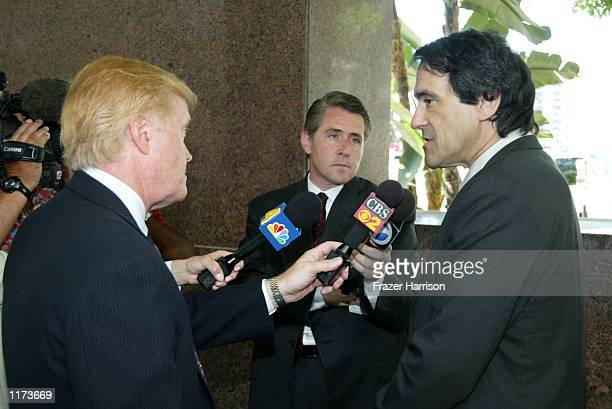 The Blake family attorney Barry Felsen talks to the media after a hearing in the custody case for the child of actor Robert Blake at Los Angeles...