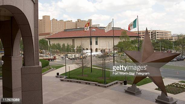 The Blanton Museum of Art as seen from the Bob Bullock Texas State History Museum opens to the public April 30 on the University of Texas campus in...